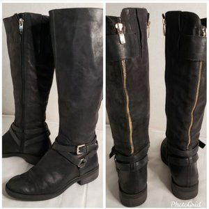 "ENZO ANGIOLINI ""SAEVON"" harness riding boots"
